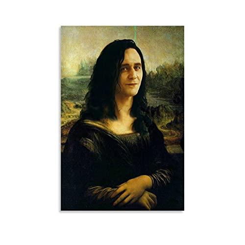 ASDQA Loki Lisa Poster, dekoratives Gemälde, Leinwand, Wandkunst, Wohnzimmer, Poster, Schlafzimmer, Malerei, 20 x 30 cm