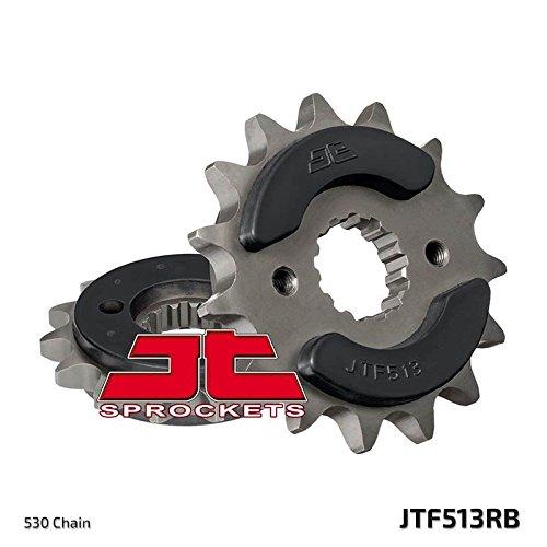 JT Rubber Cushioned Vooraandrijving Motorfiets Sprocket JTF513RB 16 Tanden past Kawasaki (Z550 A1-A3 80-83), (Z550 C1-C3,LTD 81-83), (ZR550 A1,A2 (Z550F) 80-83), (ZX600 E1-E10 Ninja (ZX-6) USA 93-02)