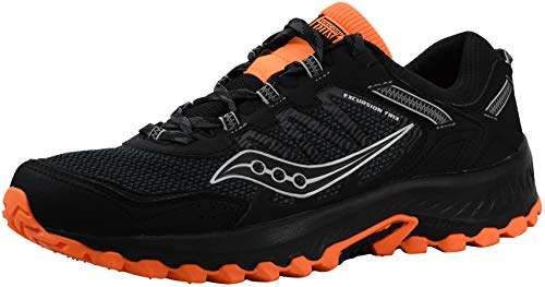 Saucony Men's Versafoam Excursion TR13 Black/Black/Orange Running Shoe 10.5 M US