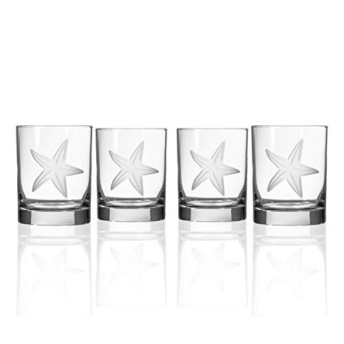 Rolf Glass Starfish Double Old Fashioned Glass, Clear