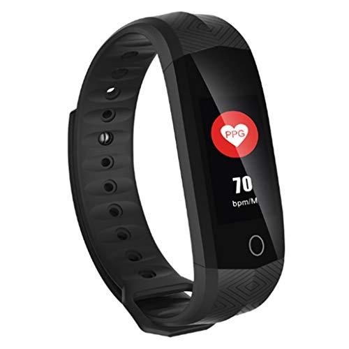 CHOME Intelligentes Armband, Touchscreen-Kalorienzähler Fitness-Tracker Wasserdichter Puls-Tracker Schrittzähler Aktivitäts-Tracker Schlaf,Black