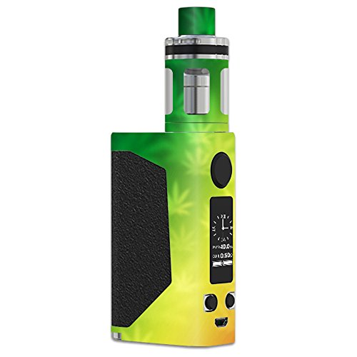 MightySkins Skin Compatible with JoyeTech eVic Primo – Rasta Rainbow | Protective, Durable, and Unique Vinyl Decal wrap Cover | Easy to Apply, Remove, and Change Styles | Made in The USA