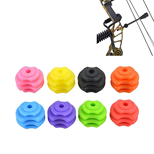MILAEM Bow String Stabilizer String Stop Decelerator Bow String Shock Absorber Rubber Bow String Suppressor Compound Bow Accessories (Purple)