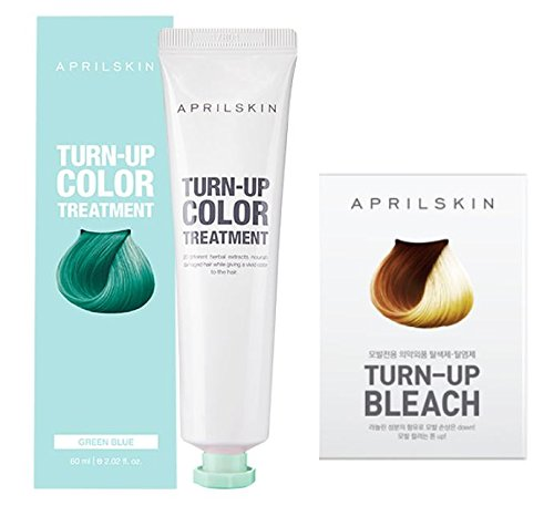 [APRILSKIN] TURN-UP COLOR TREATMENT(GREEN BLUE) 2each & TURN-UP BLEACH 2each