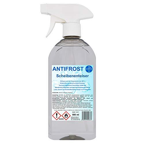 ANTIFROST bis -60°C Scheibenenteiser 500 ml in der Sprühflasche I Entfroster I Enteiser I Herrlan-Qualität I Made in Germany