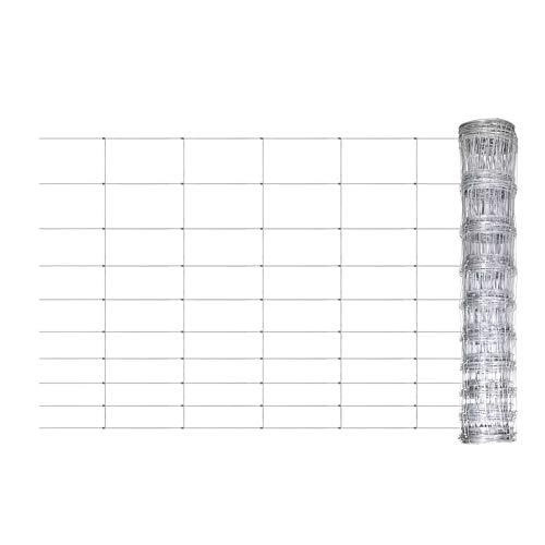 EBTOOLS - Malla de alambre de acero galvanizado, 50 m x 120 cm