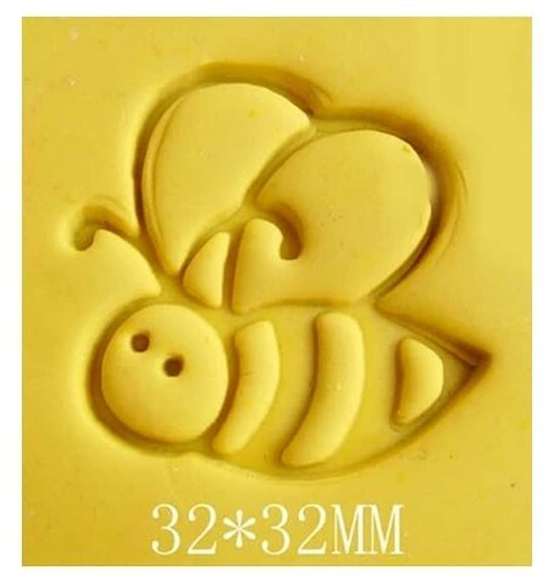 Areena Shop Little Bee Pattern Mini DIY Soap Stamp Chaprter Seal 3.23.2cm