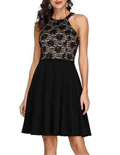JASAMBAC Women's Halter Cocktail Dress $15.30 (55% Off with code)