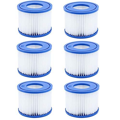 GAODA VI Filterkartusche für Pool, für Bestway Flowclear Pool Filter, Filter Ersatzfilter für Lay-Z-Spa Miami, für Vegas, für Monaco. Größe 6-58323. (6 Pack)
