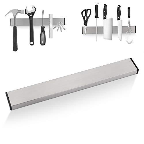 PROHOUS Magnetleiste Messer Messerhalter aus Edelstahl,selbstklebend Messerleiste Wandmontage Messerblock Magnetleiste Ohne Bohren, für Küche, Büro, Werkstatt [30cm]