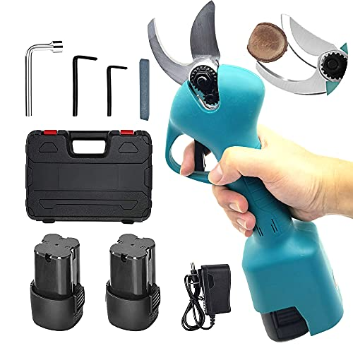Montex Electric Pruning Shears with 1.3 Inch Cutting Diameter, Battery Powered Electric Pruner Burshless Motor Tree Branch Pruner Cordless Long Usage Hour With 2 Pcs 2Ah Lithium Battery and Tool Kit