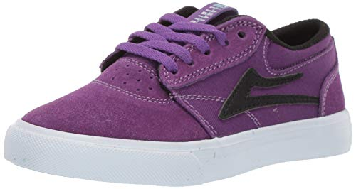Lakai Footwear Summer 2019 Griffin Kids Purple/Black Suede Size Tennis Shoe, 11 M US