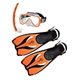 BEUCHAT Oceo Junior Set Flossen Maske und Schnorchel Kinder one Size Orange