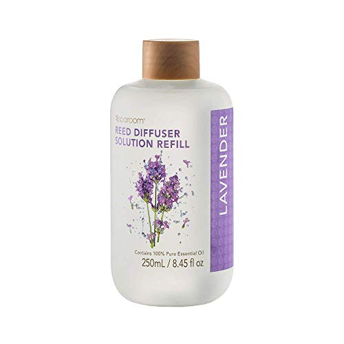 Sparoom Lavender Reed Diffuser Refill Solution - 100% Pure Essential Oil - for Use in Reed Diffusers - 250mL / 8.45 Fl Oz