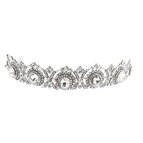 HEALLILY Diadema de Cristal de Boda Vintage Tiara de Novia Tiara Brillante...