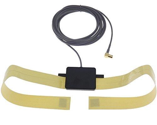 DAB+ antenne met versterker raam binnen, lijmantenne auto, personenauto, SMB