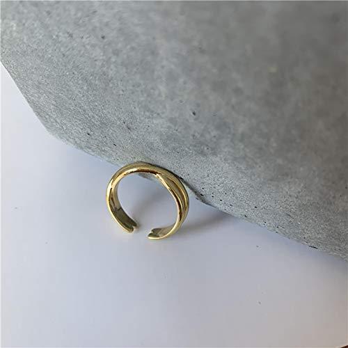 yqs Women ring Minimalist Adjustable Open Finger Gold Knot