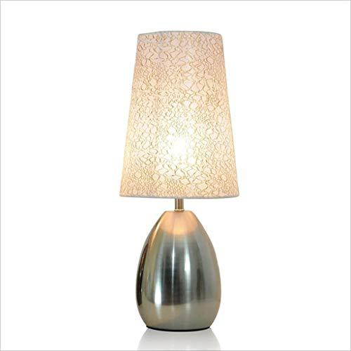 SLEVE Touch Control Lampe de Table, Prises ca, Lampe de Chevet Moderne Lampe de Chevet for Chambre Salon Bureau, 60W LED Vintage équivalent Inclus Ampoule (Color : Silver)