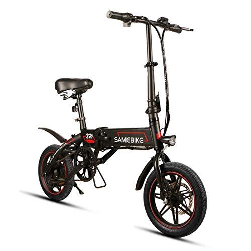 SAMEBIKE Bicicleta Eléctrica Plegable de 14 Pulgadas, Bicicleta Eléctrica Adultos Motor de...