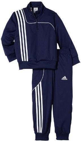 adidas Kinder Trainingsanzug Sereno 11 Sweat Suit, Top:New Navy/White  Bottom :New Navy/White, 176, W40050