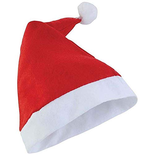 Christmas Shop - Bonnet de Père Noël - Adulte Unisexe (Taille Unique) (Rouge)