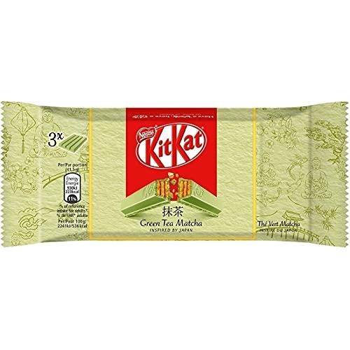 Nestlé Kit Kat Green Tea Matcha 125g par 3 (lot de 6 soit 18 plaques)