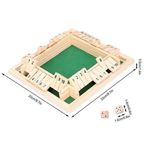 Uxsiya Houten partyaccessoires nummerbord speelgoed voor outdoor-activiteiten (numbers on Green Background, blauw)