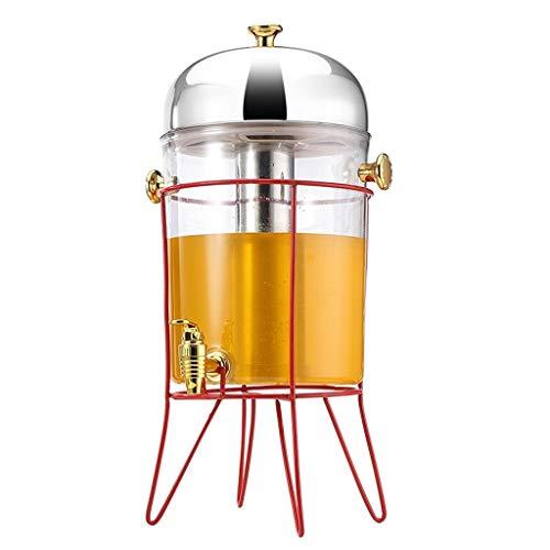 Fantastic Deal! Outdoor Glass Beverage Dispenser 8 Liter Iced Beverage Dispensers with Metal Stand C...