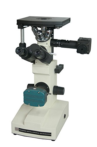 Radical Quality Professional 600x Inverted Metallurgy Metallography LED Microscope w Polarizing and 3Mpix Camera