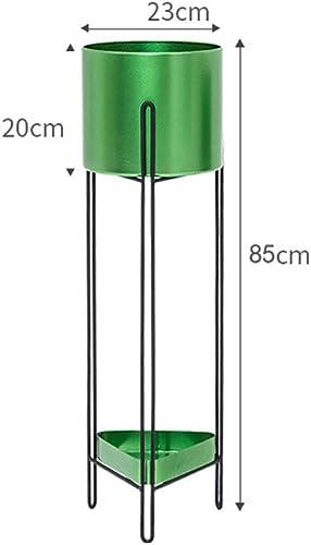 PAN Abnehmbare Metall 2 Tiers Pflanzen Rack Indoor Boden Modell Topfpflanze Stehen (Schwarz (Farbe   Grün, Größe   Small Größe)