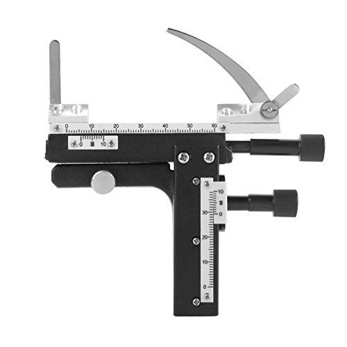 Fdit Calibro per palcoscenico Mobile X-Y agganciabile con Scala Graduata per Accessori microscopi al microscopio
