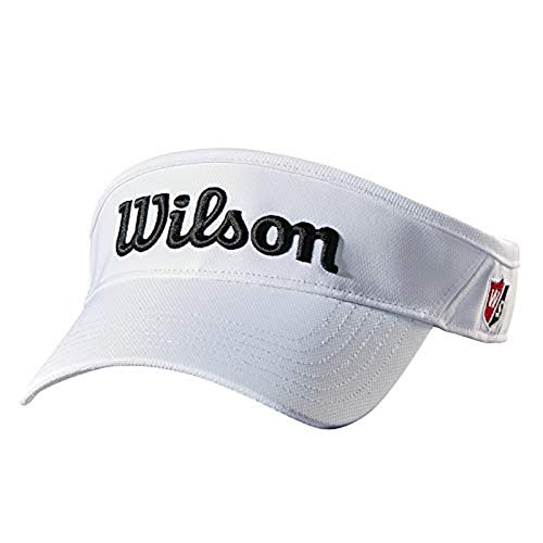 Wilson Staff, WGH6300WH Visiera Curva, Regolabile, Unisex, Poliestere, Bianco