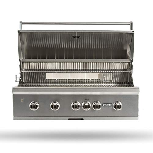 Coyote S-Series Natural Gas Grill, 42-in. 4-Burner Built-in Grill with RapidSear Infrared Burner & Rotisserie - C2SL42NG