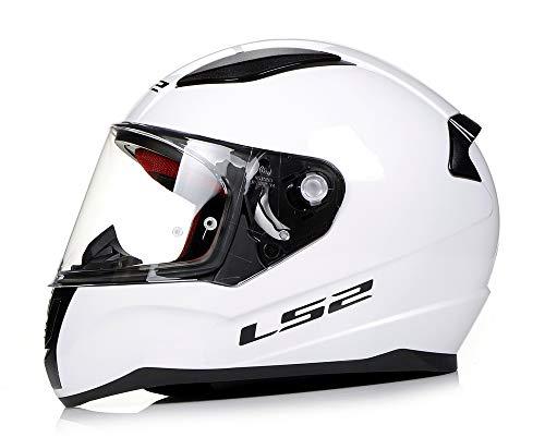 LS2, Casco integral de moto Rapid, blanco, XXL
