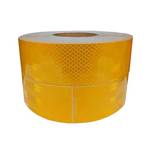 JYJY Markierungsband und Isolierband, Gestreift Gold-reflektierende Aufkleber sind sicher und zuverlässig, und gelbe warnende Band hat hohe Sichtbarkeit und Verschleißfestigkeit von 0,5 * 45m 9.9