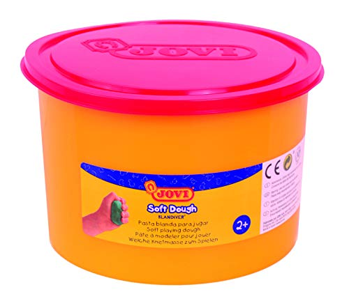 Jovi Soft Dough Blandiver, Bote de 460 g, Color Rojo (46003)