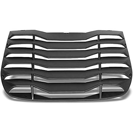 Matte Black Rear Window Vent Louver Scoop Cover For 03-08 Nissan 350Z 3.5L DOHC