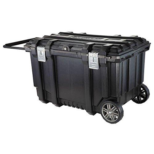 Husky 209261 37 in. Mobile Job Box Utility Cart Black