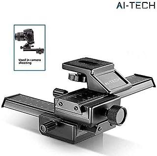 """Raíl Macro profesional de Ai-Tech 4 vias Rail Enfoque Macro para Canon Sony Pentax Nikon Olympus Samsung Slider Camara con tornillo estandar de 1/4"""""""