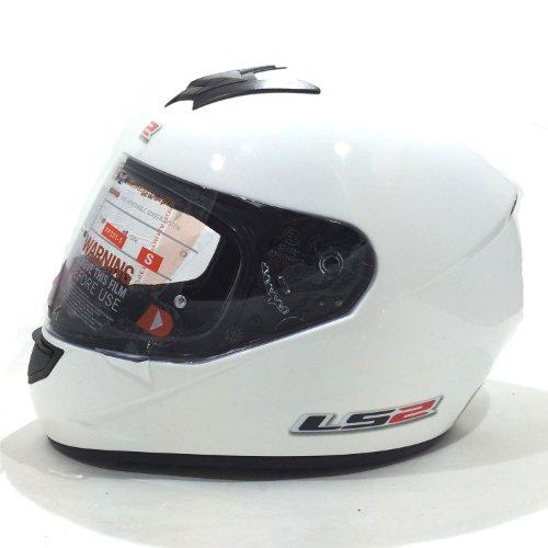 Casco de la motocicleta LS2 FF351 Mono casco integral (L, Blanco)
