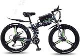 Smart Ebike Berg, 26' Mountainbike for Erwachsene, Gelände 27-Gang-Fahrräder, 36V 30KM Reine Batterie gefahrene Abnehmbarer Lithium-Ionen-Akku, (Color : Black Green A2, Size : 13AH/75km)