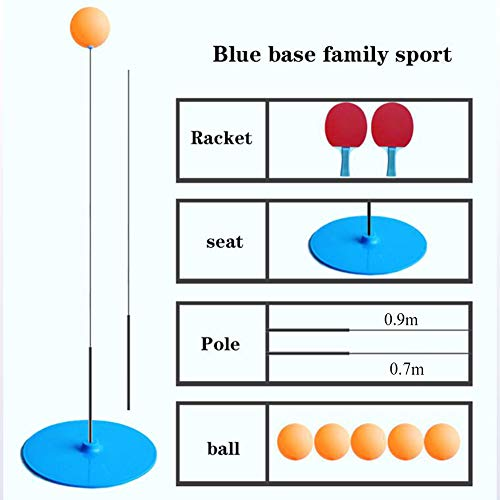 Find Bargain XUE Portable Table Tennis Trainer Table Tennis Soft Shaft Training Machine Elasticity K...