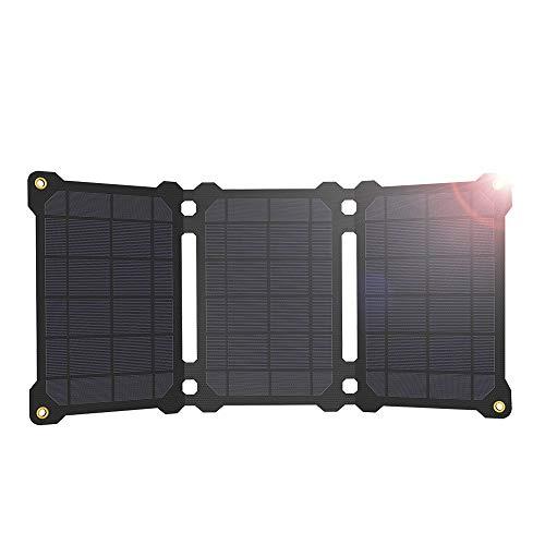 GIARIDE - Caricatore solare, 21 W, pannello solare portatile con 2 porte USB, compatibile con iPhone e smartphone Android, tablet, altri dispositivi di ricarica USB