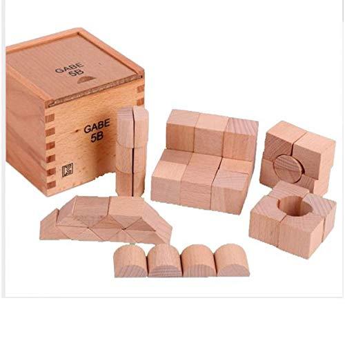 PETSOLA 44 Piezas De Cubos De Madera para Niños Bloques De Construcción Agarrar Juguetes con