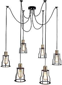 JZX Lámparas para el Hogar, Iluminación de la Novedad, la Lámpara de la Lámpara de Nordic Industrial Retro Loft Ikea Living Bar Restaurante de Iluminación Creativa Día Mujer Dispersos Flor Araña