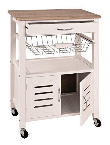 Küchenwagen mit Schublade, Korb und vieles mehr Maße (B/T/H) in cm: 58 x 37 x 84 in weiß-eiche hell