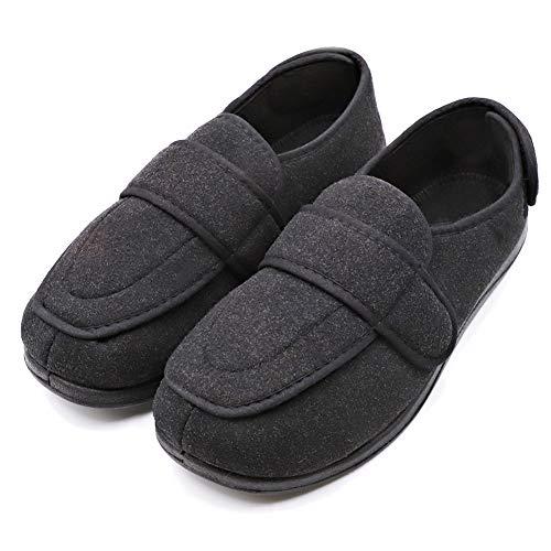 Women's Diabetic Edema Shoes with Adjustable Strap Closures Swollen Feet Arthritis Wide Nonslip Slippers Orthopedic Footwear Relief for Elderly Woman Indoor Outdoor