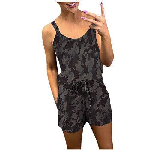 ZZXIAN Jumpsuits Dames Casual Playsuit Korte printen, Overall Dames zomer katoen Nauw Bodysuit Dames Cool Sexy Party Push Up Korte broek Vrouwen