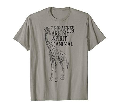 Giraffes Are My Spirit Animal T-shirt for Giraffe Lovers
