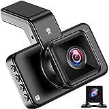 LPWCAWL Dual Dashcam, 1296P Vorne und 720P Hinten Autokamera mit 3-Zoll Bildschirm, Nachtsicht, 170° Weitwinkel, Loop-Aufnahme, G-Sensor, Parkmonitor, 32 GB SD-Karte